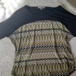 Buy 2, get another item FREE, XL blouse